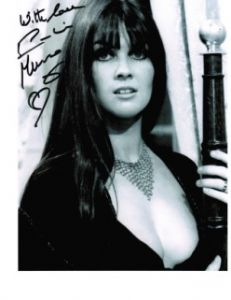 Caroline Munro signed 10 by 8 star of Dracula, Sinbad, Bond #7